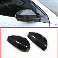 Carbon fiber Style Car Rearview Rear View Mirror Cover Trim For Land Rover Discovery Sport Range Rover Velar Car Accessories