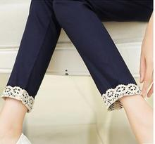 Maternity pants  cotton maternity trousers fashion autumn lace big size Haren thin pregant women clothing SH-3206