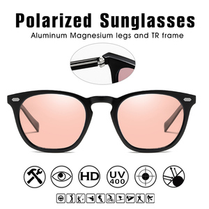 Image 4 - 2019 clássico retro feminino olho de gato óculos de sol fotochromic polarizado rosa óculos de sol dos homens oculos gafas de sol mujer uv400