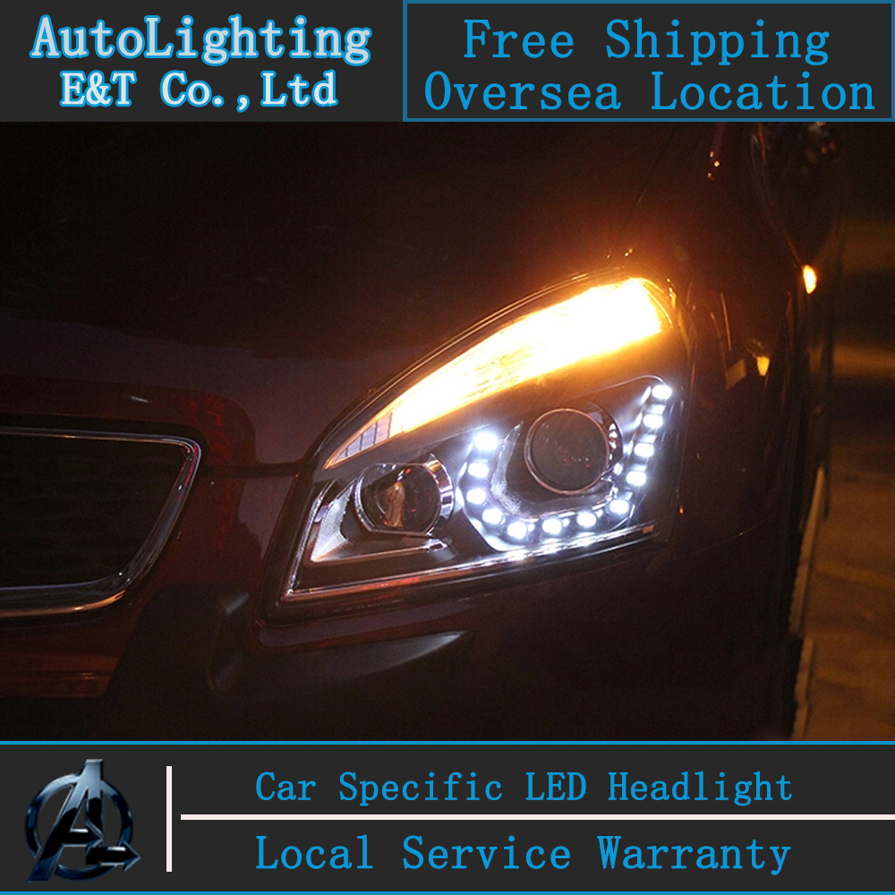 Car Styling Head Lamp for Qashqai led headlight 2009-2014 New Qashqai headlights drl projector headlight H7 hid Bi-Xenon Lens