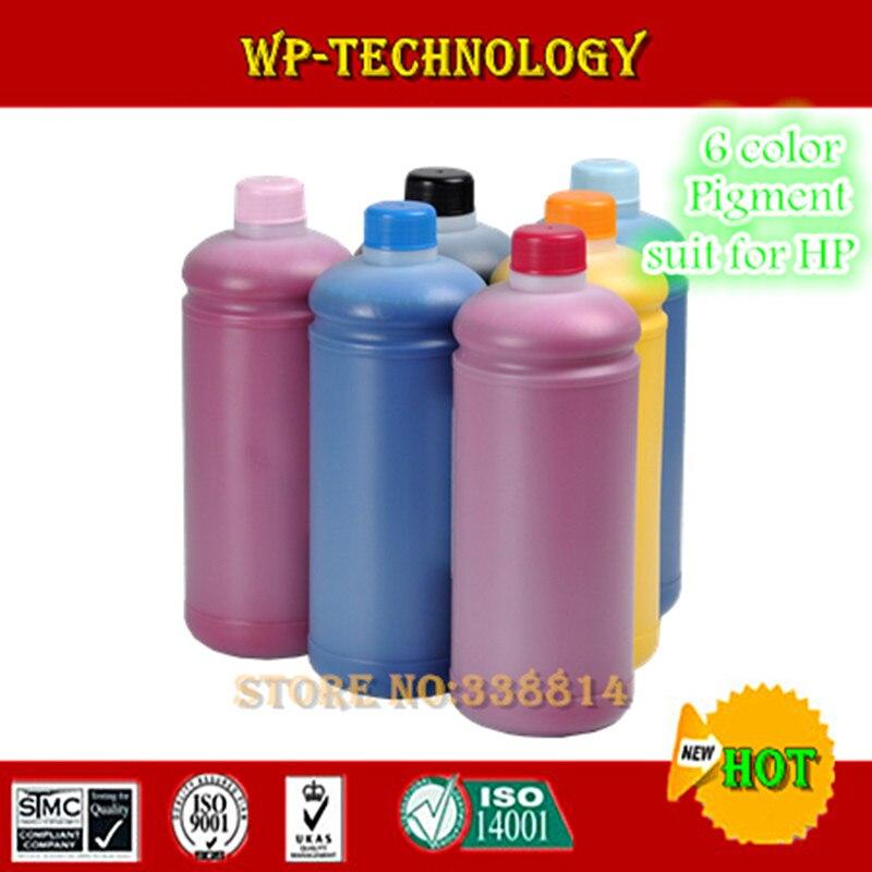 Haute qualité pigment recharge d'encre, costume pour hp 6 imprimantes couleur, pour Hp Design jet 130 Hp Design jet 90 Designjet 10, etc.
