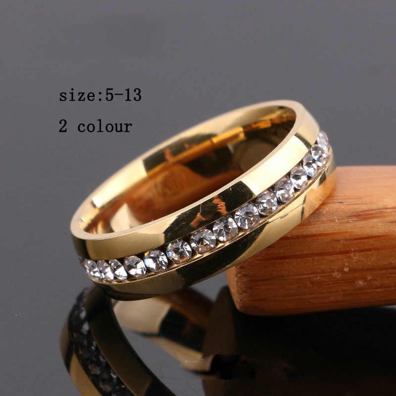 Luxury Gold สียึด anel feminino masonic สีดำแหวน bijoux bagues 0.5 ct เดี่ยวแถว Zirconia หมั้นแหวนเครื่องประดับ