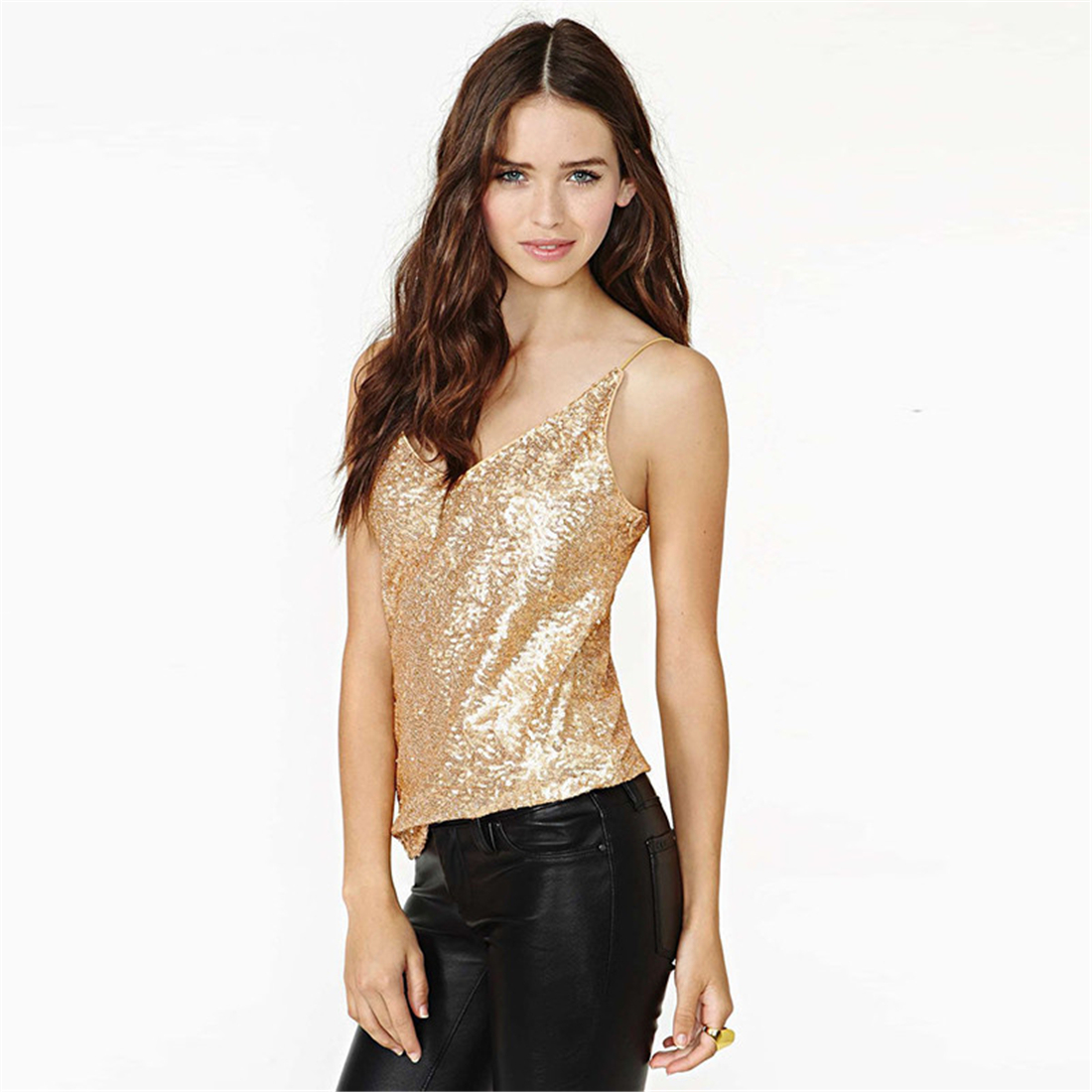 HTB1C6ezRVXXXXcKXFXXq6xXFXXX6 - Tank Top Summer Sexy Sleeveless Shirts Gold JKP089