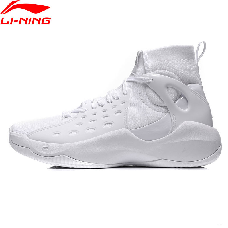 Li Ning Men Sonic VI Professional Basketball Shoes Mono Yarn Cushion LiNing TPU Wearable Sport Shoes