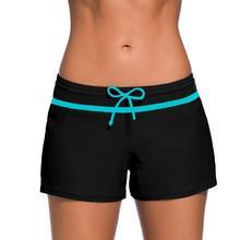 Женские плавки бикини сексуальные боксеры шорты спортивные штаны Высокая талия купальники купальный костюм пляжные шорты для женщин плавки