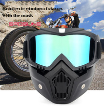 Adeeing Practical Motorcycle Tactical Goggles Mask Wind Dust Proof Outdoor Sports Equipment goggles mask Double foam