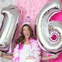 32 дюймовые розовые, золотые, серебряные фольгированные воздушные шары большого размера для украшения дня рождения, свадьбы
