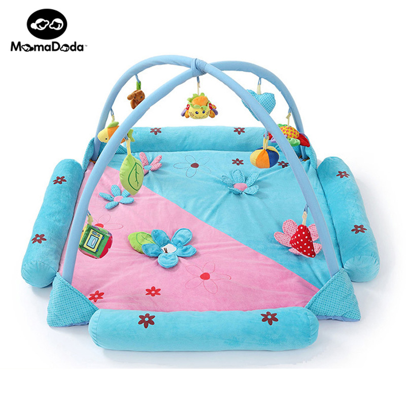 120cm*120cm Baby Play Mat Game Bed Crib Infantil Floral Educational Crawling Mat Play Gym Kids Blanket Carpet For 0-24 Months