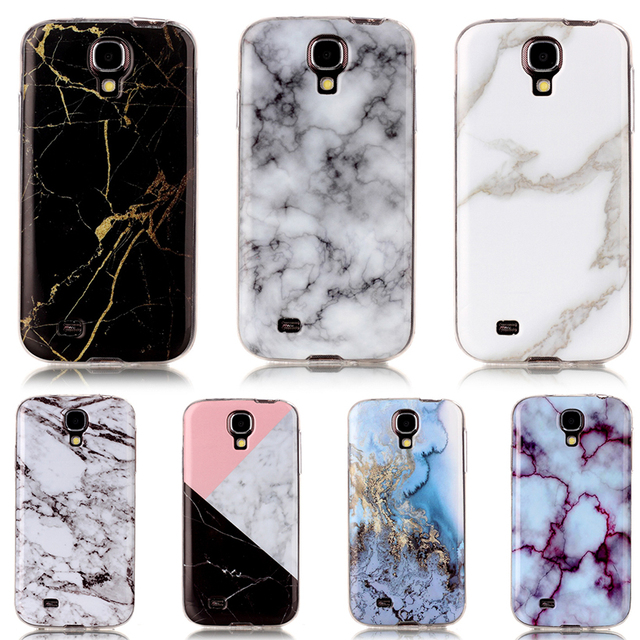 AKABEILA Marble Silicone Phone Covers Cases For Samsung I9500 Galaxy S4 SIV I9505 GT-I9500 S4 CDMA SCH-I545 TPU Case