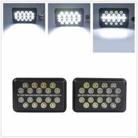 Pair 40W Square Spot LED Lights Work Lamps For 4x4 ATV UTV SUV Jeep Truck Off Road Project Vehicle