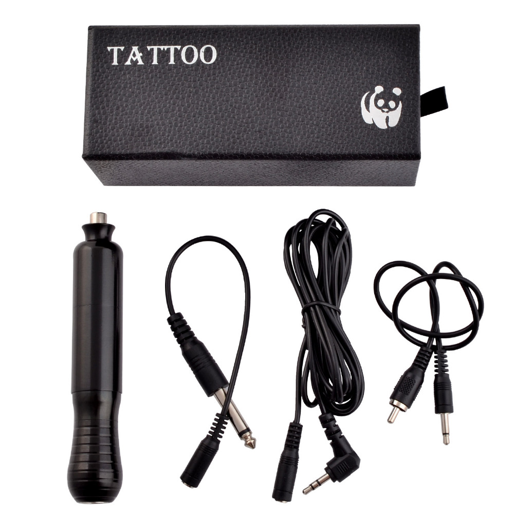 ФОТО Tattoo Hybrid Pen Rotary Machine Shader Liner Assorted Tattoo Motor Gun Kits Supply Black Color For Artists