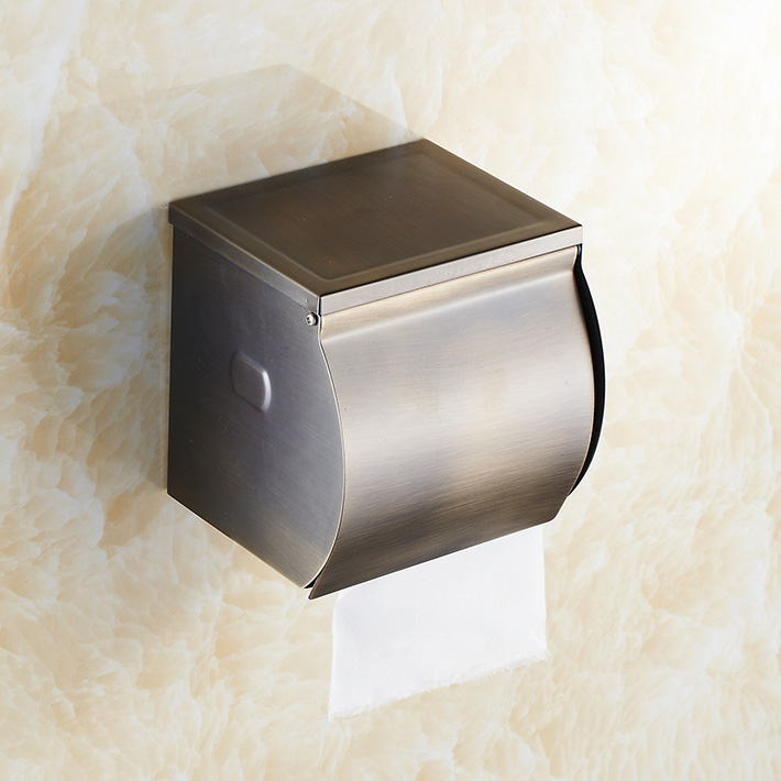 Antique bronze  Toilet Paper roll  Holder Hotel bathroom accessories toilet  tissue dipenser stainless steel stainless steel wall mounted waterproof toilet roll paper holder of high capacity for toilet hotel and bathroom