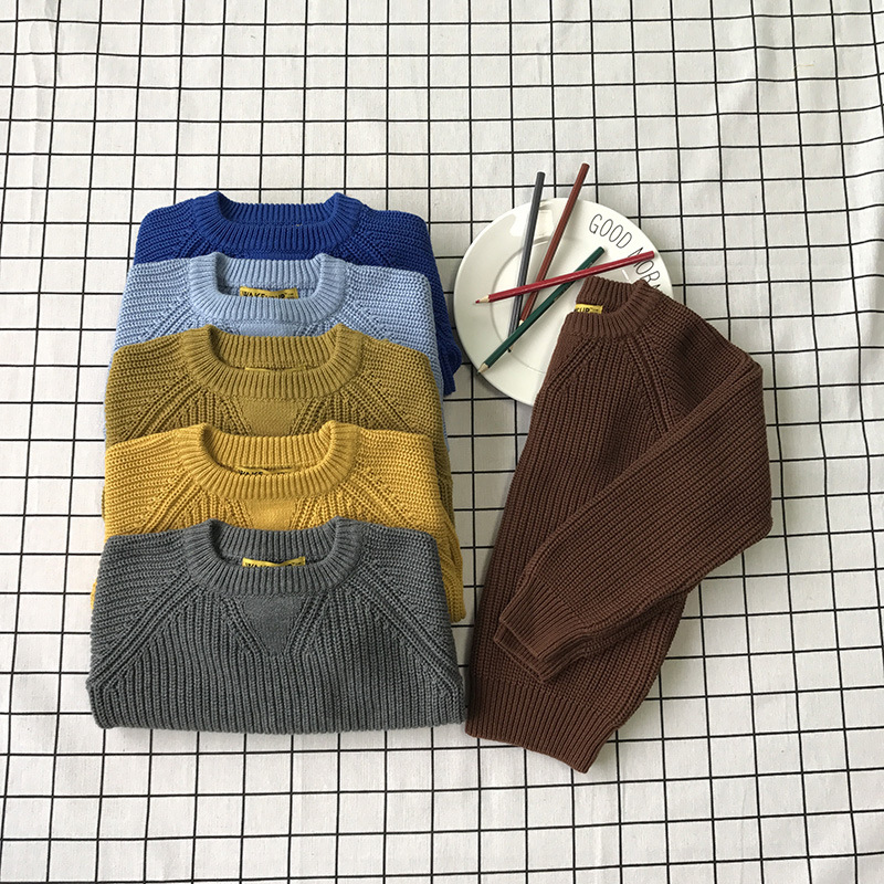 1-6Y Baby Boys Girls Sweater Autumn Winter Clothing Children Long Sleeve Knitted Clothes Coat Sweates Kids Coat cardigan