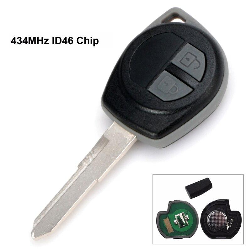 US $7 25 30% OFF|Car Remote Key Fit for Suzuki Swift SX4 ALTO Vitara Ignis  JIMNY Splash 433MHz ID46 Chip HU87 Uncut Blade-in Car Key from Automobiles