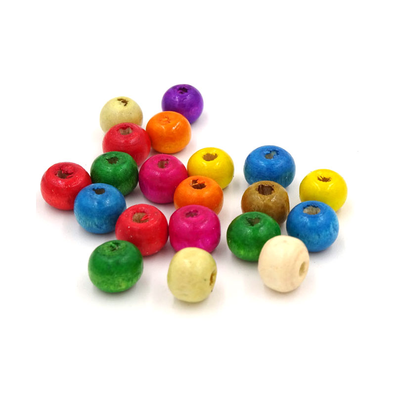 Mix Color Wood Beads Components Jewelry Materials Perle En Bois Chinese Abacus 10mm Bead Wooden Craft Embellishments 200pcs