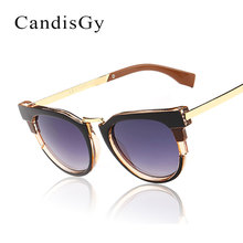 Ojo de gato gafas de Sol Nuevas Mujeres gafas de Sol gafas de Diseñador de la Marca Fresca Gafas De Sol feminino YB60