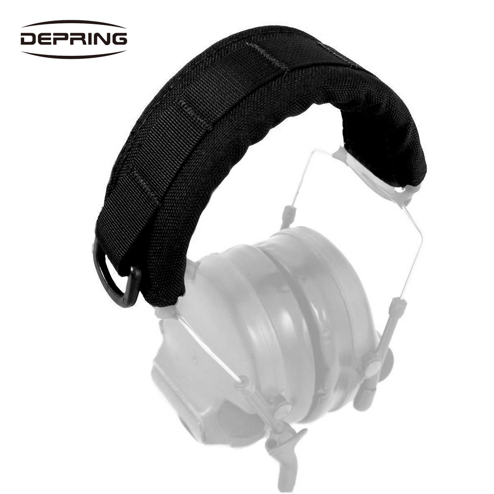 Molle Tactical Headband Headset Cover Pouch For Hunting Shooting Earmuffs