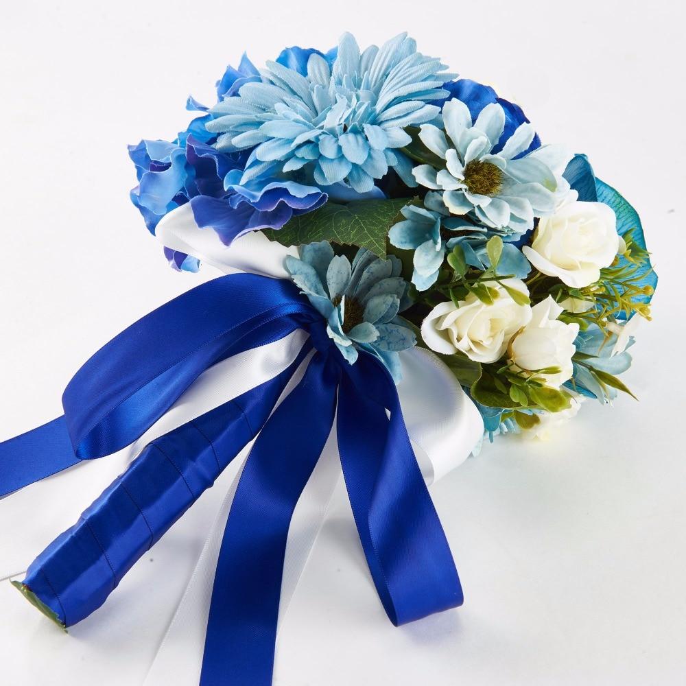 Dressv Best Cloths Royal Blue Flowers Wedding Vintage Bouquet For