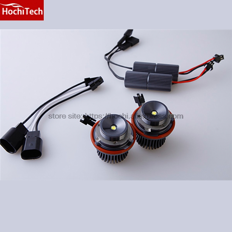 HochiTech 2pcs no error Angel Eyes LED Marker 7000K 20W/set White for BMW E60 E61 LCI Halogen Headlight Non projector