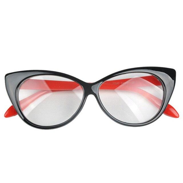 Nuevo 2018 ojo estilo Leopard anteojos marco mujeres marca llano ...