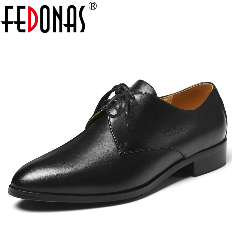 FEDONAS 2018 Spring Women Oxford Shoes Lace Up Classic Flats Shoes Women Genuine Leather Boat Shoes Flats Moccasins Large Size chatterbox pupil s book 2