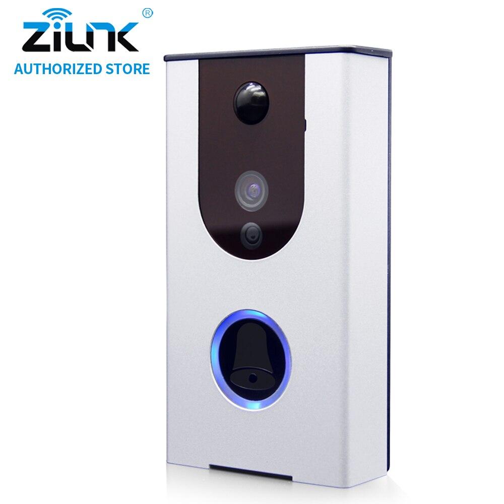 ZILNK Batterie WiFi Sonnette De Stockage en Nuage Vidéo Interphone PIR Nuit Vision Vidéo Interphone Soutien TF Carte Étanche Argent