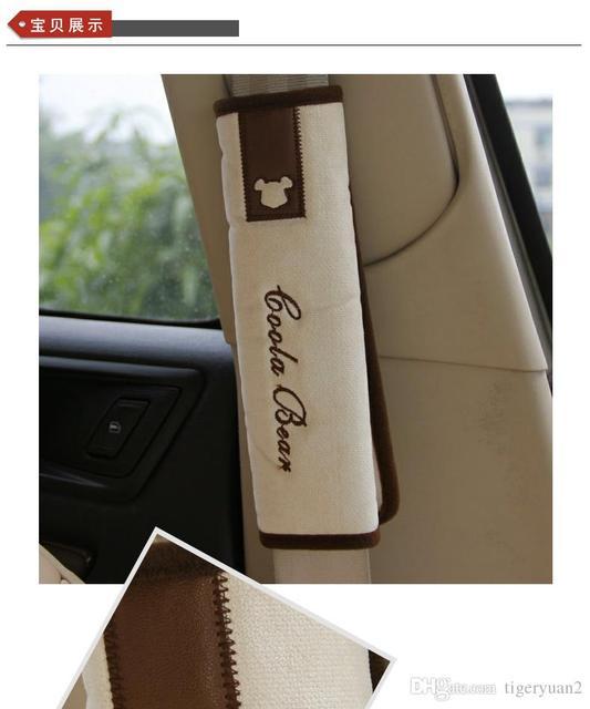 4 unids/set, 2 unids Puerta tirón guantes y 2 unids Cinturones de Seguridad de Hombro pad para todo tipo de coche de uso común Accesorios interiores