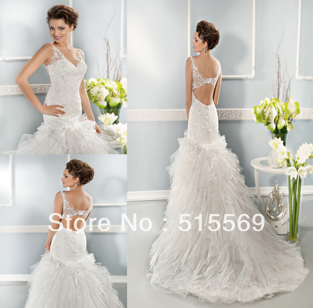 Fishtail Wedding Dress With Train : Wedding dress in dresses from weddings events on aliexpress
