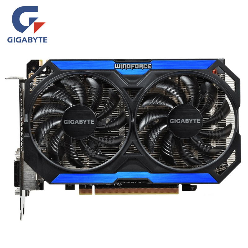 GIGABYTE D'origine GPU GTX 960 4GD5 Vidéo Carte 128Bit GM206 GDDR5 Cartes Graphiques Pour NVIDIA Carte Geforce GTX960 4 gb GV-N960OC-4GD