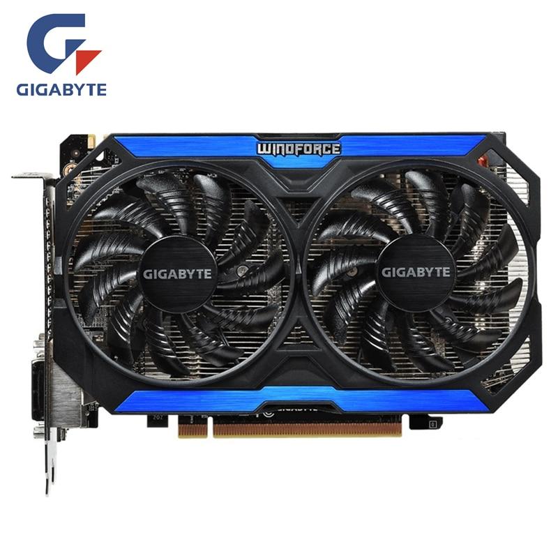 GIGABYTE Originale GPU GTX 960 4GD5 Scheda Video 128Bit GM206 GDDR5 Schede Grafiche Per NVIDIA Mappa Geforce GTX960 4 GB GV-N960OC-4GDGIGABYTE Originale GPU GTX 960 4GD5 Scheda Video 128Bit GM206 GDDR5 Schede Grafiche Per NVIDIA Mappa Geforce GTX960 4 GB GV-N960OC-4GD