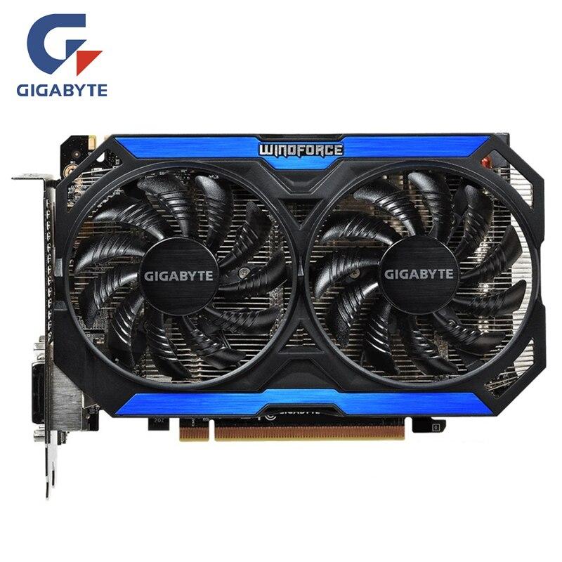 GIGABYTE Placa de Vídeo GPU GTX 960 4GD5 Originais 128Bit GM206 GDDR5 Placas Gráficas Para NVIDIA Geforce Mapa GTX960 4 GB GV-N960OC-4GD