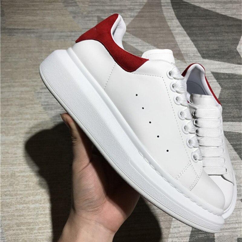 Белые туфли наивысшего качества из натуральной кожи, женская повседневная обувь на плоской подошве, новая обувь на толстой подошве со шнуро