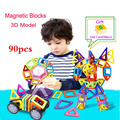 90 unids magnética bloques de construcción enlighten juguete noria multicolor triángulo cuadrado parte diy ladrillos magnética de diseño para niños