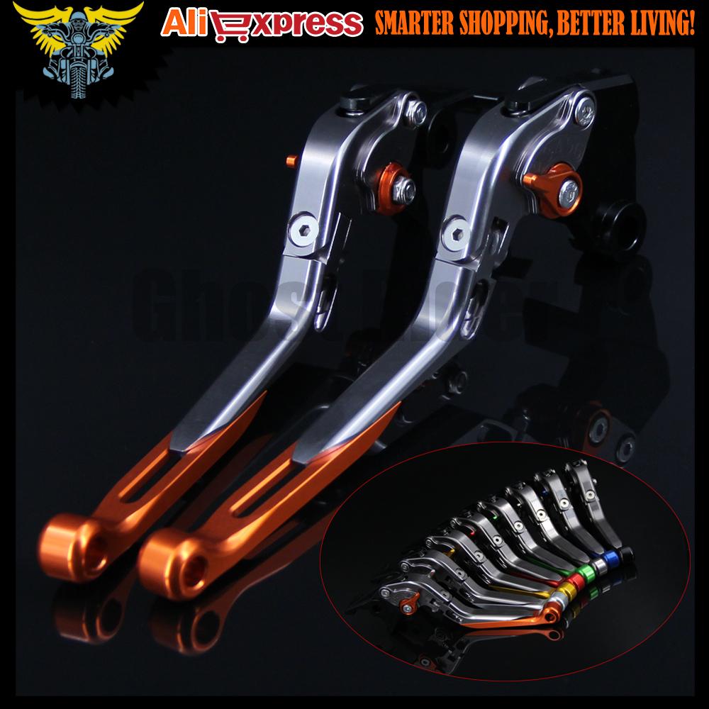 8 Colors CNC Adjustable Foldable Extendable Motorbike Brakes Clutch Levers For KTM RC8/R 2009 2010 2011 2012 2013 2014 2015 2016