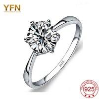 YFN Hot Design 925 Sterling Silver Fine Jewelry Fashion Noble Luxury Diamond Jewelry Ring Wedding Band