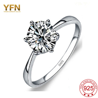 YFN Hot Design 925 Sterling Silver Fine Jewelry Fashion Noble Luxury Diamond Jewelry Ring Wedding Band