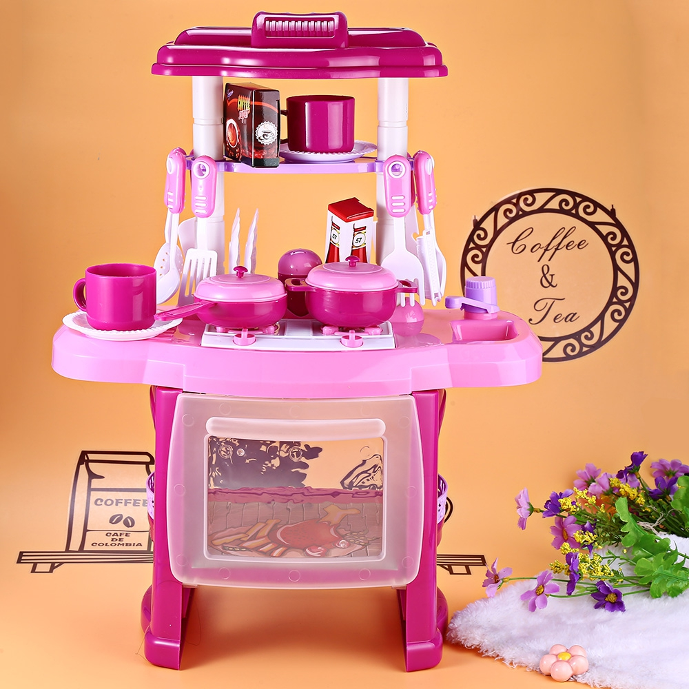 New design multifunctional kids kitchen family fun toys - Cocina juguete aliexpress ...