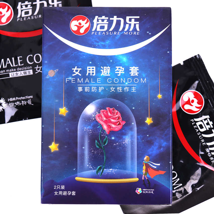 2 Pcs/Kotak Baru Kondom Wanita Wanita Orgasme Lateks Merangsang Dewasa Produk Seks Pasangan Cinta Seksual Kondom