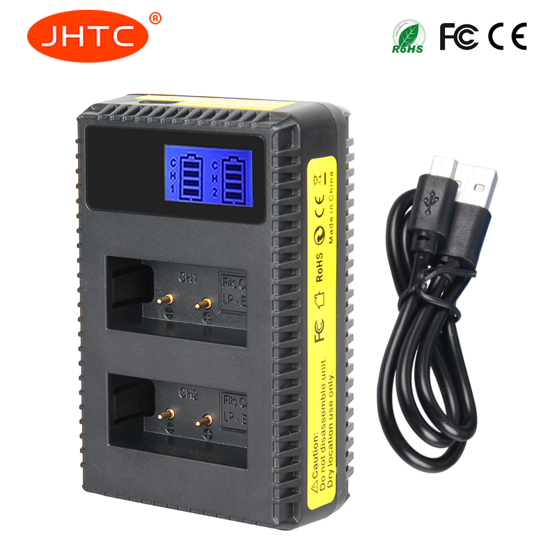 JHTC 1pc LP-E17 LP E17 LPE17 Charger with LCD display charging For Canon Cameras EOS 750D 760D T6i T6s M3 Kiss X8i 8000D аккумулятор canon lp e17 для eos 750 760