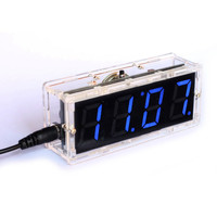 New 1Set Blue DIY Digital Clock Kit Light Control Industrial Control LED Electronic Kit