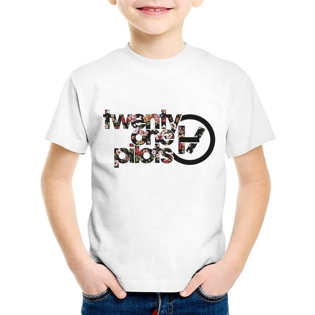 18 M 10 t veinte uno pilotos imprimir camiseta para Niños/Niñas ...