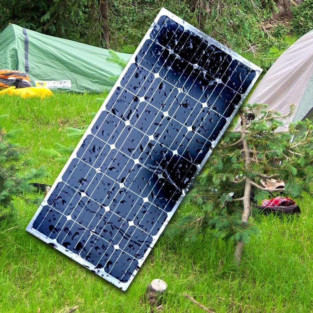 DOKIO Brand 100W 18 Volt Black Solar Panel China Cell Module System Home Boat 100 Watt