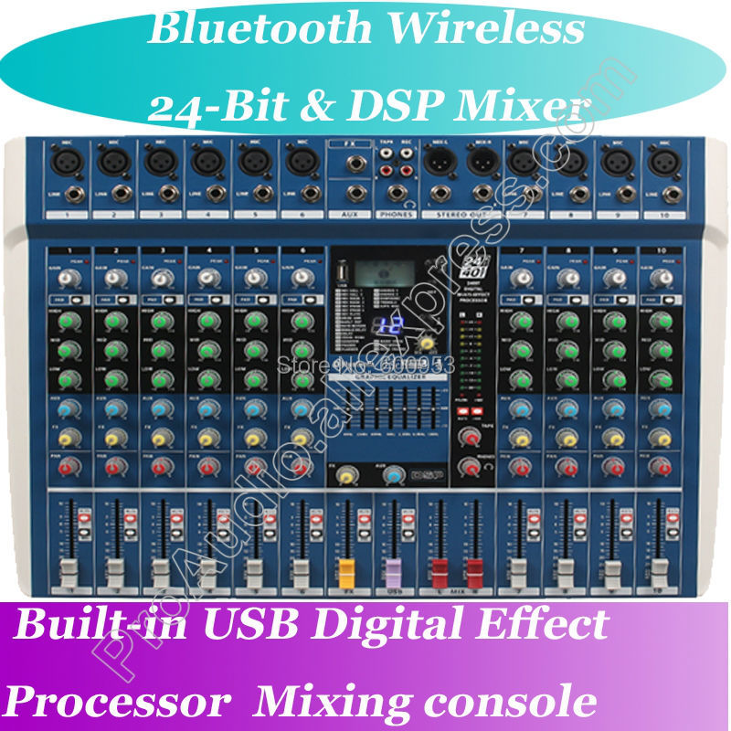 MICWL ZDR1000 Bluetooth Wireless Microphone Live Studio Mixers Mixing Console DSP 40KHZ 24-Bit Digital Effect Processor professional 4 channel live mixing studio audio sound console network anchor portable mixing device vocal effect processor
