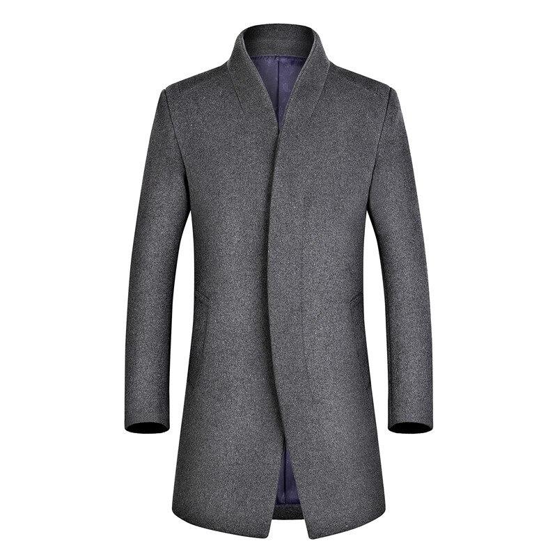 Mélange Laine Lâche Et Pardessus De Occasionnel Manteaux Angleterre Breasted Mode Jacketsingle Noir bleu bourgogne gris Manteau Stand D'hiver Style wwzrX