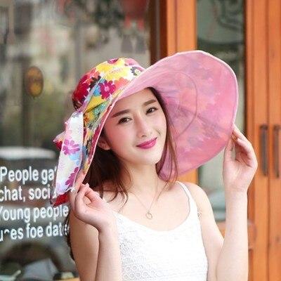9121ebe04d0 Dropwow 2018 Summer large brim beach sun hats for women UV ...