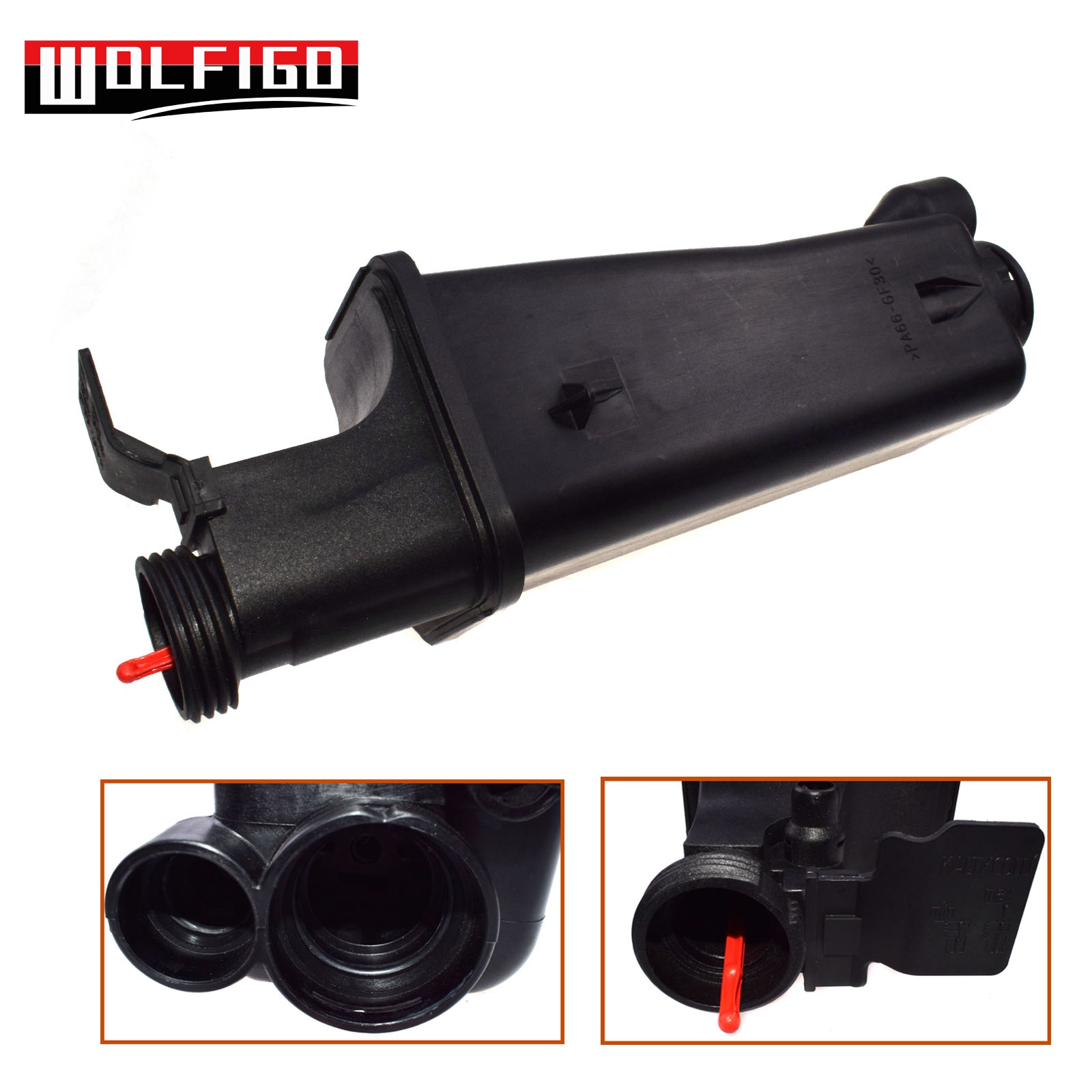 WOLFIGO Radiator Coolant Overflow Expansion Tank Bottle Reservoir with or without Cap 17137787039,17111436413,17132247553 New image