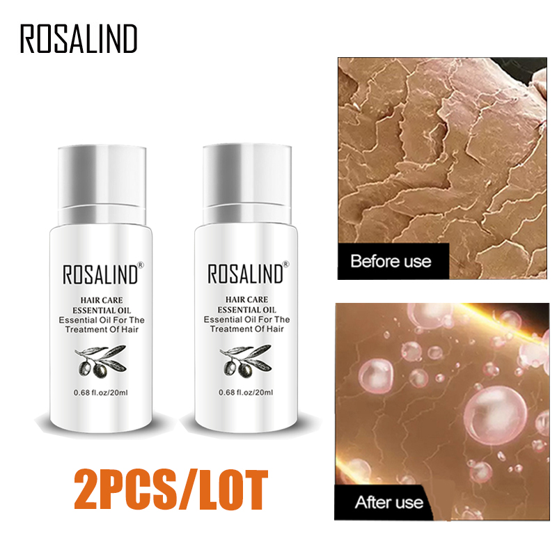 ROSALIND Keratin Hair Treatment Essence Serum Hairs Mask Keratin Shampoo For Hair Loss Repair Dry Damage Hair Care Oil For Hair