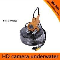 Envío Gratis  cámara subacuática de 20 metros de profundidad con dos Rodes de plomo para buscador de peces y aplicación de cámara de buceo|underwater camera|underwater fishing camera|fishing underwater camera -