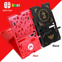 Nintend Switch NS Red/Black Colors Adjustable Stand Nintendos Switch Bracket for Nintendo Switch Console