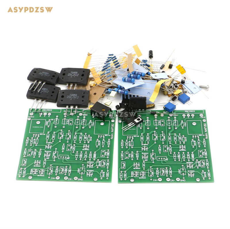 2 PCS Clone mono NAIM NAP180 Power amplifier DIY Kit 2SC2922 75W 8ohm/140W 4ohm wholesale new 2pcs nap 140 classic naim clone audio power amplifier 100w 100w 4ohm 40v diy kit